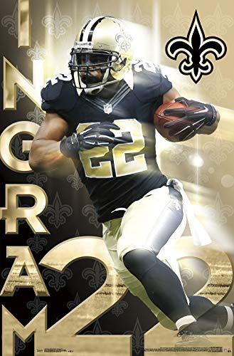 Trends International New Orleans Saints-Mark Ingram Clip Bundle Wall Poster, 22.375