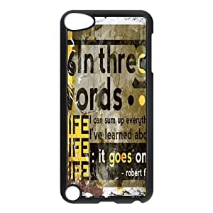 Special Designer Robert Frost Quote It Goes On Ipod Touch 5th Case, Snap on Protective Robert Frost Ipod 5 Case