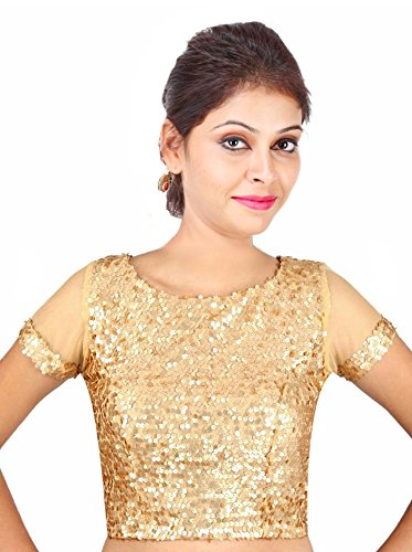 9ce00b2c91892 SINGAAR Women s Sequin Readymade Blouse  Amazon.in  Clothing ...