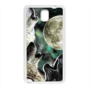 Howling under moon Sirius Cell Phone Case for Samsung Galaxy Note3