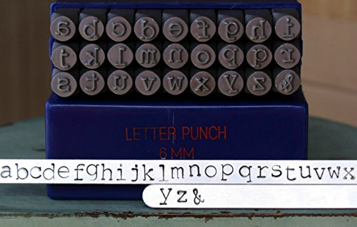 (6mm Typewriter Font Metal Stamp Alphabet Letter Set, Available in Uppercase, Lowercase or Combination Set (Lowercase (MD-16L)))