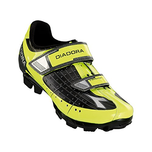 Diadora Junior / Kids X-phantom Scarpa Da Mountain Bike - 159091 Nero / Giallo Fluo Dd / Bianco