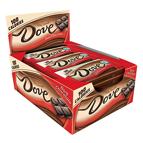 DOVE 100 Calories Dark Chocolate Candy Bar 0.65-Ounce Bar 18-Count Box (Dark Chocolate Dove)