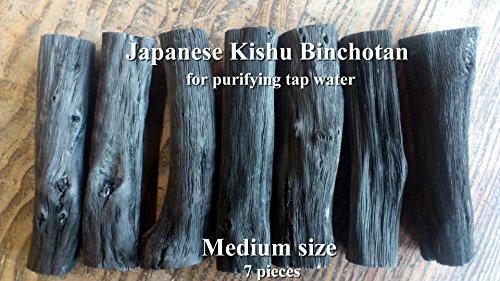 Japanese Kishu Binchotan White Charcoal for purifying tap water 7pcs medium size by Kishu Binchotan Somabito