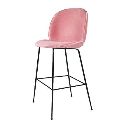 Amazoncom Modern Barstools Chair Black Metal Legs Blue Velvet