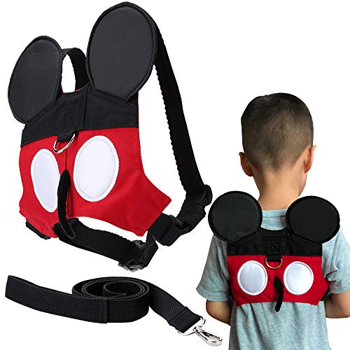 flashbluer Anti-Lost Harness with Safety Leash Cute Design Toddlers Leash for 1-3 Years Old Boys and Girls