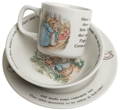Wedgwood Peter Rabbit Original 3-Piece Set, Mug, Plate, and Bowl