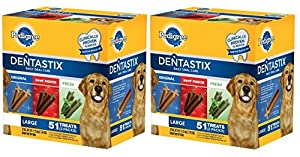Pedigree Dentastix Dog Treats 3 Flavor Variety Pack, 102-count