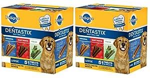 Pedigree Dentastix Dog Treats 3 Flavor Variety Pack, 102-count
