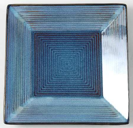 Oneida Adriatic-Blue Square Salad Plate, Fine China Dinnerware