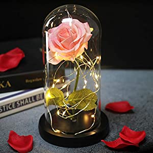 Li-Never Artificial Flower Simulated Rose Home Decoration Ornaments for Girls'Birthday Gifts and New Year Gifts,01 3