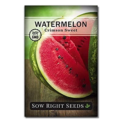 Sow Right Seeds - Watermelon Seed Collection for Planting - All Sweet, Crimson Sweet, Sugar Baby, and Yellow Crimson Watermelons. Non-GMO Heirloom Seeds to Plant a Home Vegetable Garden : Garden & Outdoor