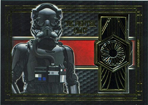 Star Wars Last Jedi BG-TF Commemorative Emblem Card Tie Fighter Pilot ()
