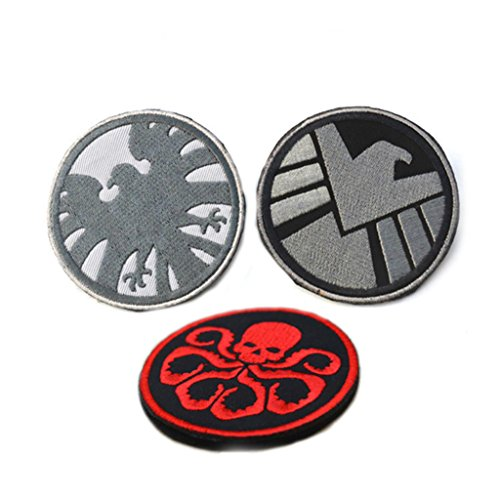 athena-shield-hydra-255-3-pack-velcro-embroiderery-applique-badge-patches
