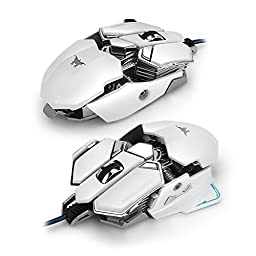 Combaterwing Optical USB Wired 4800 DPI Professional Gaming Mouse Programmable 10 Buttons RGB Breathing LED Mice Wired mouse Gaming mice