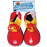 Fun World Halloween Funny Clown 2pc Costume Shoes, One-Size, Red Yellow