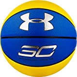 Under Armour Steph Curry Composite Basketball, Navy/Yellow, Official