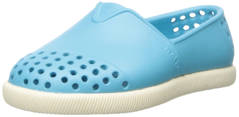 native Verona Child Slip On Sneaker (Toddler/Little Kid), Surfer Blue/Shell White,C6 US