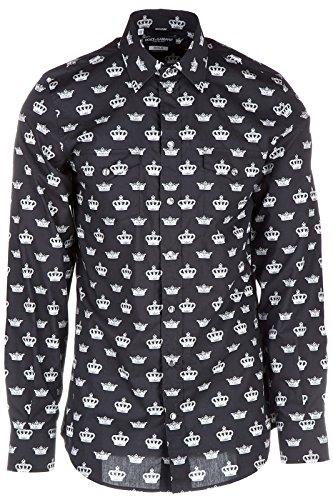 [Dolce&Gabbana men's long sleeve shirt dress shirt black US size 39 (US 15.5) G5DO4T FS5TT HN009] (Dolce & Gabbana Long Sleeve Dress Shirt)
