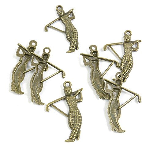 440 Pieces Vintage Pendentif Jewelry Making Supply Charms Findings Bronze Tone J3YU4 Golf Man Golfman