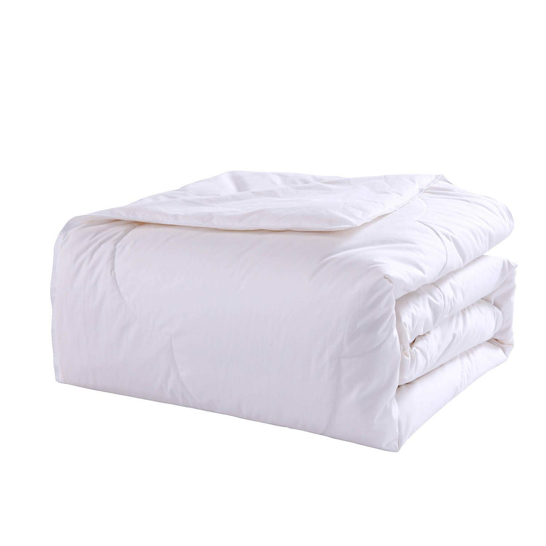 White Cottonloft 2021969 Soft Medium Warmth Cloud Stitch All Natural Breathable Hypoallergenic Cotton Comforter Full//Queen