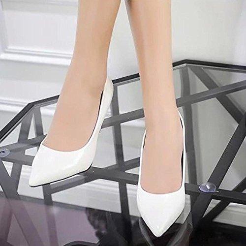 Jintime blanco Para Vestir de Mujer Piel Zapatos Otra de 4rx4T