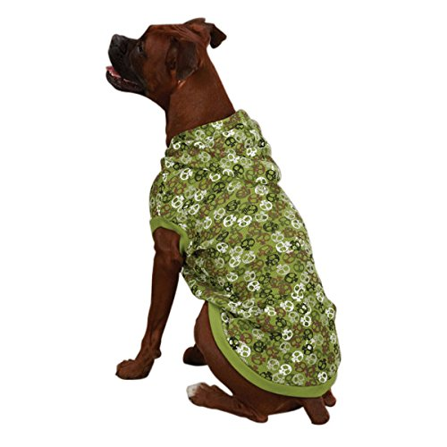 Casual Canine Polyester/Cotton Bone Heads Waffle Dog Hoodie,