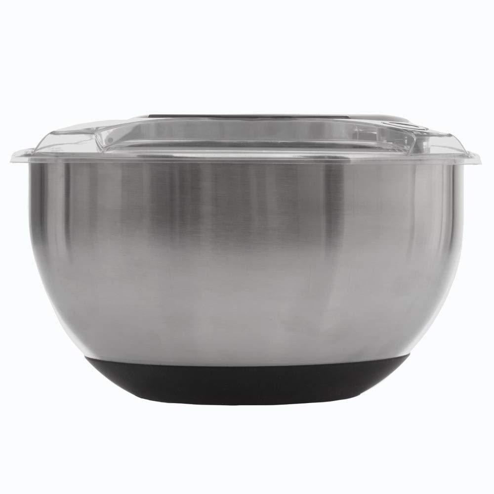 /Edelstahl Salatschleuder mit Hebel/ /27,4/x 16,5/cm/
