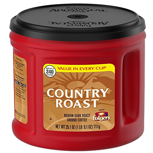 Folgers Country Roast Ground Coffee, Medium-Dark, 25.1 oz
