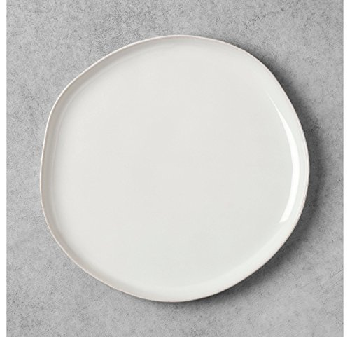 Stoneware white Dinner Plate - Hearth & Hand with Magnolia ()