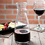 Arcoroc Fluid Carafe 1000 ml - Glass Wine and Water Carafe 1 Pc