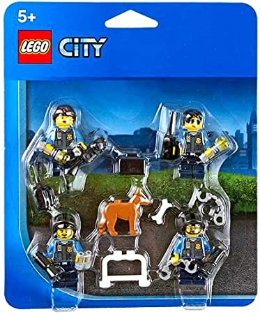 Amazon.com: LEGO City Police Officers & Dog Minifigure Accessory ...