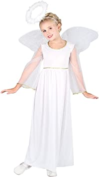 - Angel Costume Dress Fancy Girls Nativity Outfit Kids Angel Long Sleeves s