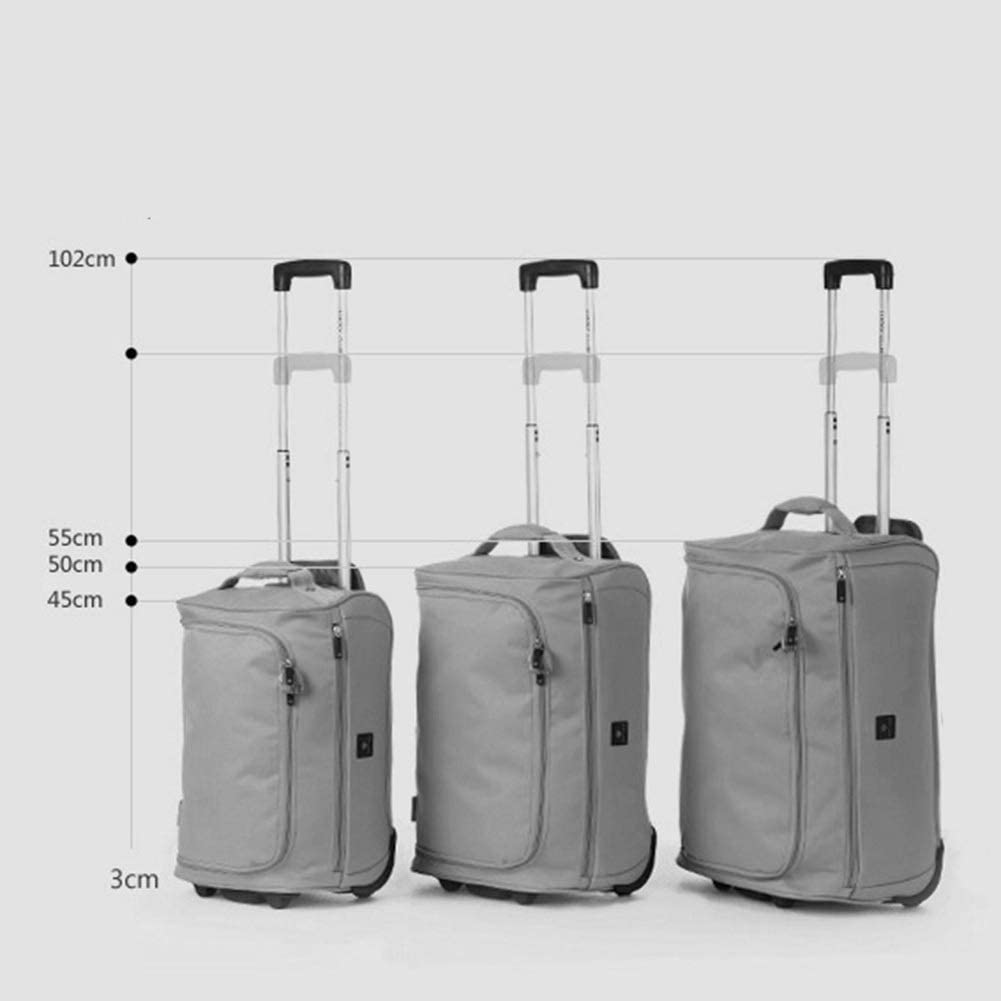 Color : Black, Size : Large ZHANGQIANG Suitcase Travel Trolley Case Trolley Bag Waterproof Short-Distance Travel Bag