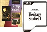 img - for 2 Volume Set of Heritage Studies 1 for Christian School: Student Text and Test Booklet [The New World- At Home in Early America, Second Edition] book / textbook / text book