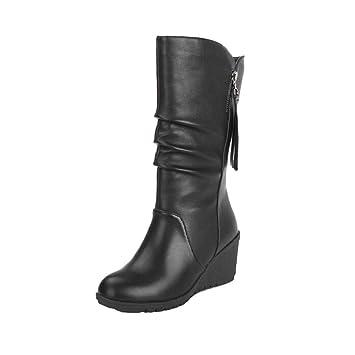 Botines Mujer Otoño invierno Amlaiworld Moda Calzado mujer otoño invierno cálido Botas de Mujer zapatos de