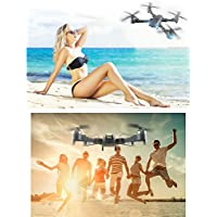 Hanbaili Upgraded XT-1 Gravity Sensor Folding Drone With 1080P Camera Live Video + Storage Package,Hand Throwing Take Off Drone with Headless Mode for Kids