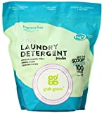 Laundry Detergent Allergy Grab Green Natural 3-in-1 Laundry Detergent Powder, Fragrance Free, 100 Loads