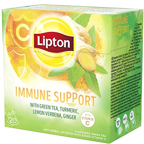 Lipton - IMMUNE SUPPORT - 20 tea bags x (Pack 12 boxes = 240 count) Pyramid tea bags