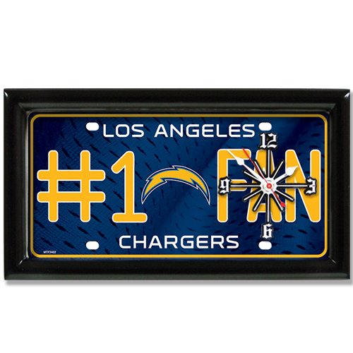 Los Angeles Chargers NFL Football #1 Fan Team Logo License Plate made Clock