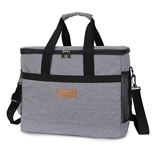 Lifewit 30L (50-Can) Soft Cooler, Insulated Travel Cooler Bag, Soft-Sided Cooling Bag for Beach/Picnic / Camping/BBQ, Grey by Lifewit