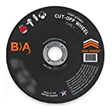 (25) Bullard 53727 (7 x 3/32) TA36T Type 1 Cut-Off Wheels for Angle Grinders. Professional Grade. 7/8'' Arbor. 8500 Rpm. For ferrous metals.