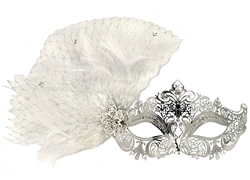 Success Creations Lila Laser-Cut Metal Silver Venetian Decorated Masquerade ()