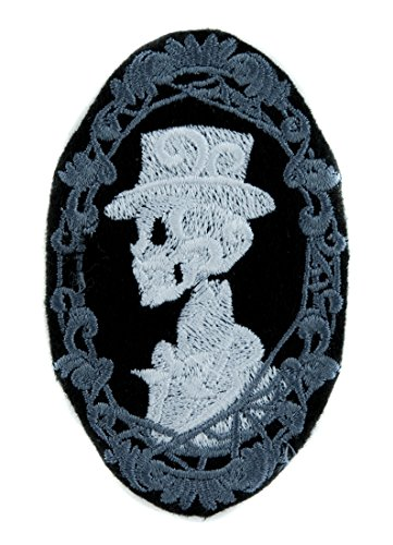 Haunted Mansion His Skeleton Halloween Patch Iron on Applique Alternative Clothing