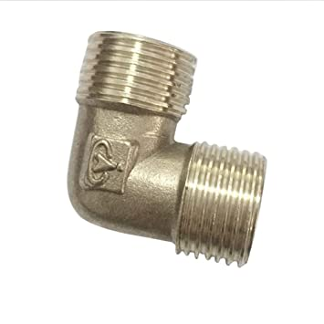 Water Male Thread L Type 1//2 Inch Pipe Fittings BSP Casting Elbow Brass
