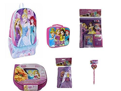Disney Princess Backpack, Light Up Lunch Bag, Lunch Kit PLUS School Supplies -