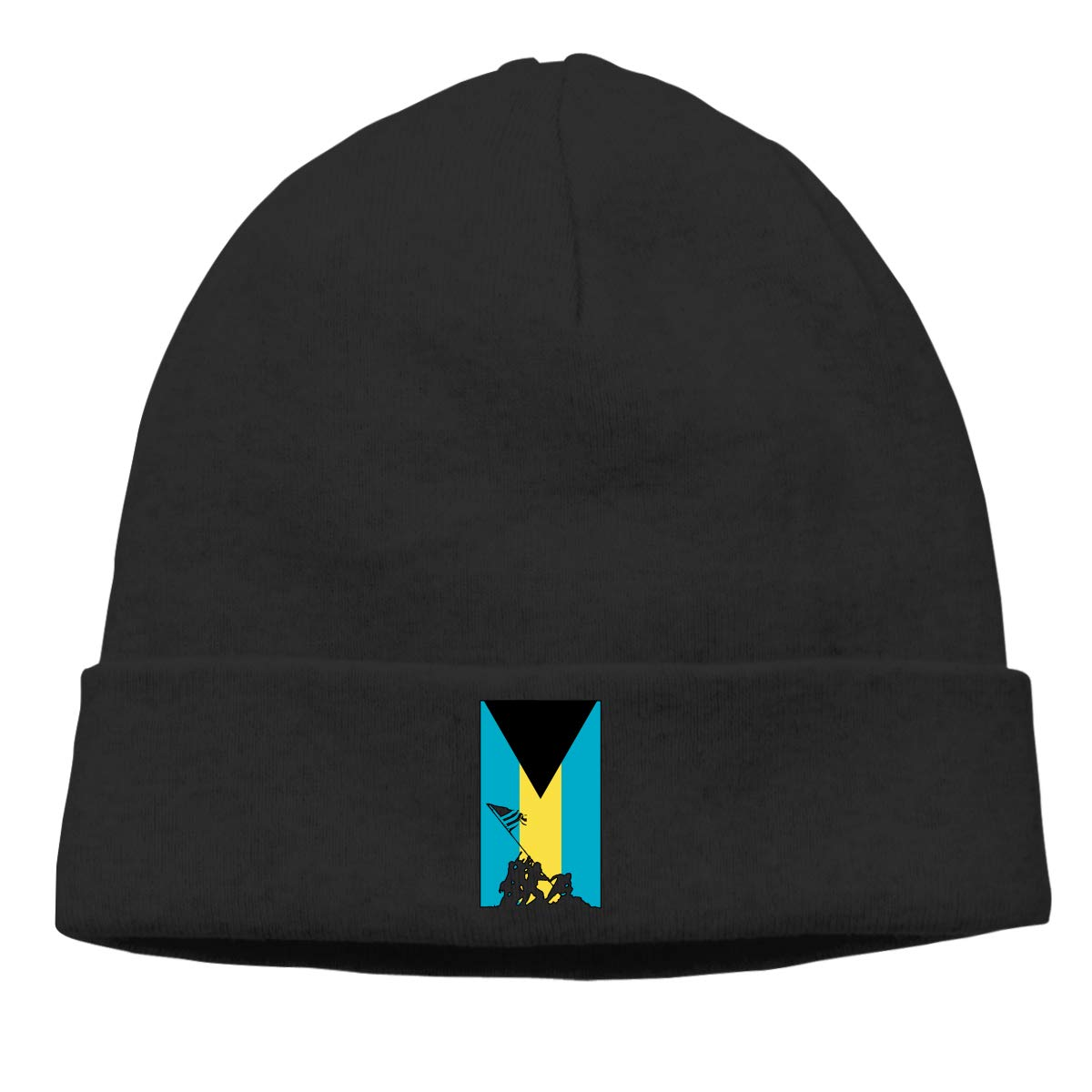 Thin Bahamas Flag Veteran Military Army Men Womens Solid Color Beanie Hat Stretchy /& Soft Winter Cap
