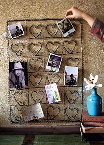 Kalalou NNL1010 Wire Twenty-Four Heart Photo/Card Holder