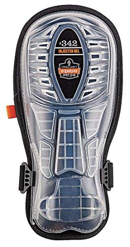 Ergodyne ProFlex 342 Extra Long Cap Injected Gel Knee Pads, Black (Terrain All Pads Knee)