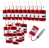 Blood Bag for Drink IV Bags, Halloween Party Cups Drink Container, Drink Pouches Gag Gift,Doctor Nursing/RN Graduation Zombie Vampire Party Supplies(Pack of 20)